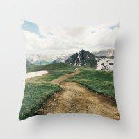 Colorado Mountain Road Throw Pillow