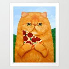 PIZZA FOR LUNCH Art Print