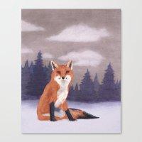 Lone Fox Canvas Print