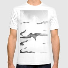 Nothingness Mens Fitted Tee SMALL White