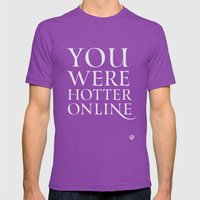 You Were Hotter Online 2 Mens Fitted Tee Ultraviolet SMALL