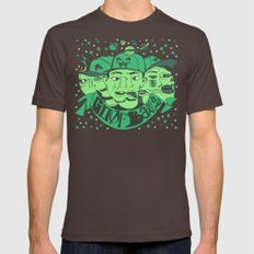 Goofballs Green Mens Fitted Tee Brown SMALL