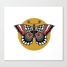 Butterfly Classic Tattoo Flash Canvas Print