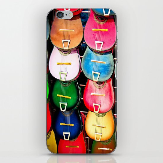 Colorful Wooden Guitars iPhone & iPod Skin
