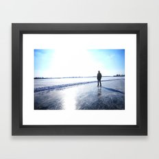 Lone Skater Framed Art Print