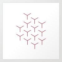#248 Rods – Geometry D… Art Print