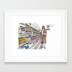 Jeffrey Lebowski and Milk. Framed Art Print