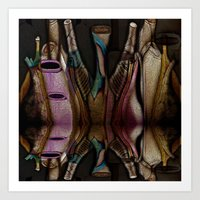 Abstract Jugs Art Print