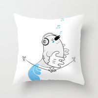 Tweettie Throw Pillow