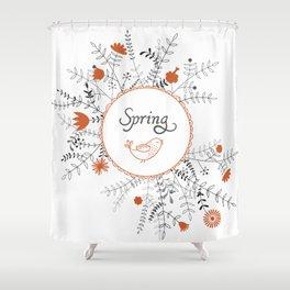 Shower Curtain - Floral background - UniqueD