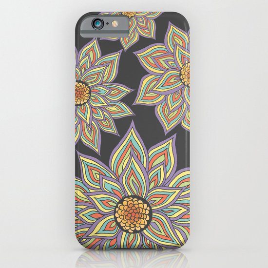 Floral Rhythm In The Dark iPhone & iPod Case
