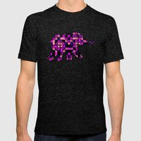 Squares Mens Fitted Tee Tri-Black SMALL