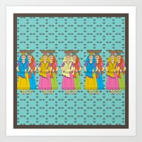 Indian Village Girls Art Print