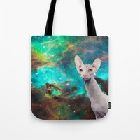 Long Neck  Cat Tote Bag