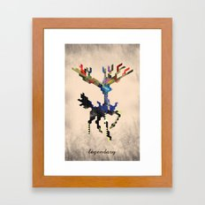 I Am Legendary X - Geome… Framed Art Print