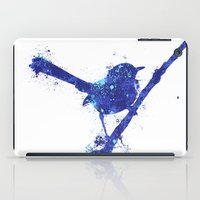 Fairy Wren Watercolour Splash iPad Case