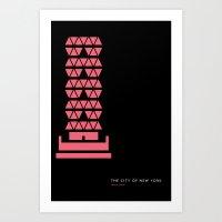 New York Skyline: Hearst Tower Art Print