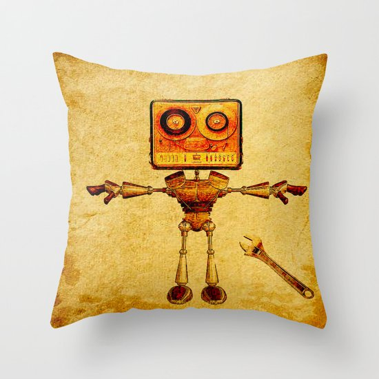 Repair of the robot Throw Pillow
