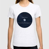 Shoot For The Moon Womens Fitted Tee Ash Grey SMALL