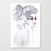 The Girl // Fashion Illu… Canvas Print
