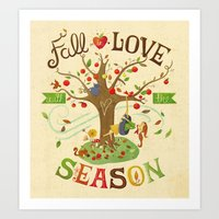 Fall In Love With The Se… Art Print