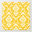 Ikat Damask Canvas Print