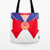 Tote Bag featuring Sailor Moon Bow by Jenny Mhairi