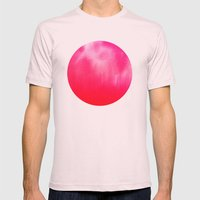 Watercolor Pink Mens Fitted Tee Light Pink SMALL