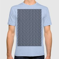 Pattern Mens Fitted Tee Athletic Blue SMALL