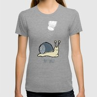 Yay! Snow! Womens Fitted Tee Tri-Grey SMALL