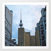 Fernsehturm Berlin - Back Art Print