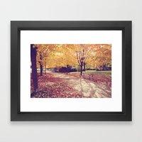 The Autumn Path Framed Art Print