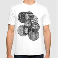 Sharpie Circles Mens Fitted Tee SMALL White