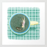 Tea Swimmer Art Print
