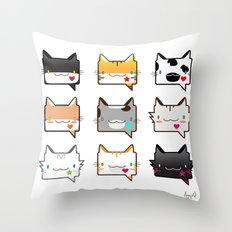 Convo Cats! Throw Pillow