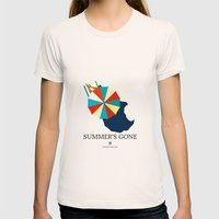 Suumer's Gone Womens Fitted Tee Natural SMALL