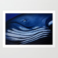 Blue Giant Of The Ocean Art Print