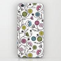 Black Border Florals iPhone & iPod Skin