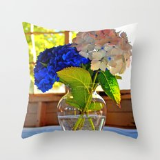 Light and flowers Throw Pillow