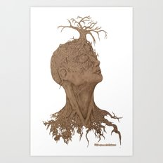 Seeded Truth: Beauty of a growing mind  Art Print
