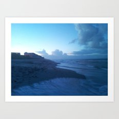 Ocean Breeze Blue Art Print