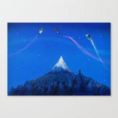 Mountain battle  Canvas Print
