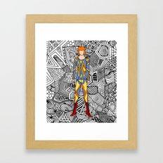 Bowie Fashion 1 Framed Art Print
