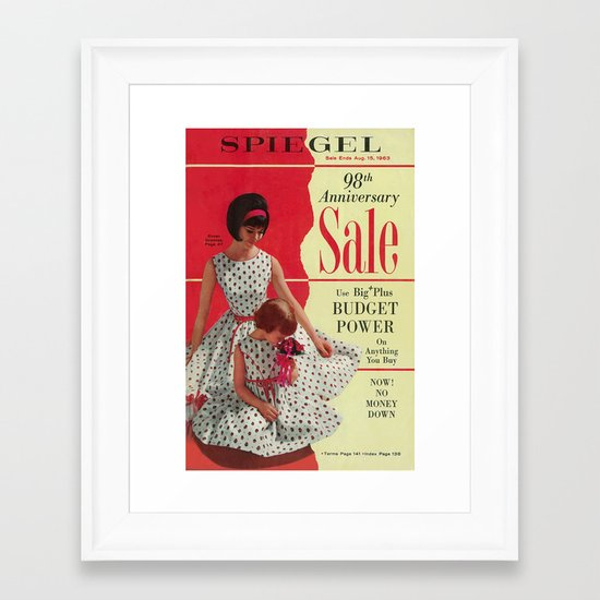 1963 - 98th Anniversary Sale -  Summer Catalog Cover Framed Art Print