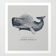 Perm Whale Art Print