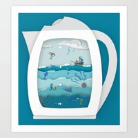 8 CUPS DEEP Art Print