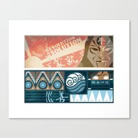Korra and Amon Banners Canvas Print