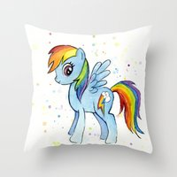 Rainbow Dash  Throw Pillow