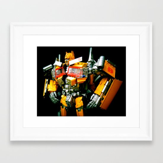 The Golden Optimus Framed Art Print