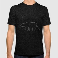 The Bear Mens Fitted Tee Tri-Black SMALL